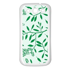 Leaves Foliage Green Wallpaper Samsung Galaxy S3 Back Case (white)