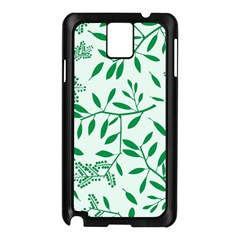 Leaves Foliage Green Wallpaper Samsung Galaxy Note 3 N9005 Case (black)