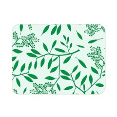 Leaves Foliage Green Wallpaper Double Sided Flano Blanket (mini)