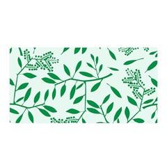 Leaves Foliage Green Wallpaper Satin Wrap
