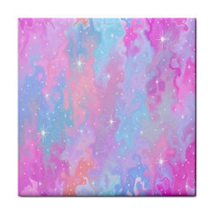 Space Psychedelic Colorful Color Tile Coasters