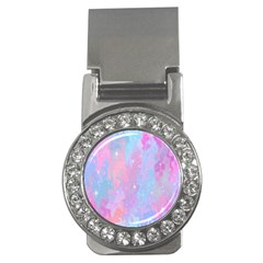 Space Psychedelic Colorful Color Money Clips (cz)