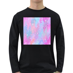 Space Psychedelic Colorful Color Long Sleeve Dark T Shirts