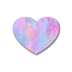 Space Psychedelic Colorful Color Heart Coaster (4 Pack)