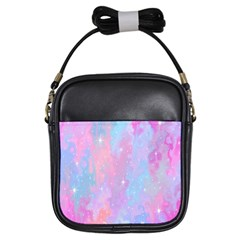 Space Psychedelic Colorful Color Girls Sling Bags