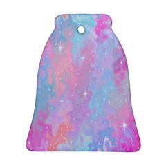 Space Psychedelic Colorful Color Bell Ornament (two Sides)