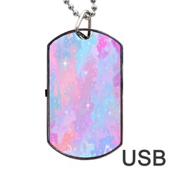 Space Psychedelic Colorful Color Dog Tag Usb Flash (one Side)
