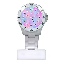 Space Psychedelic Colorful Color Plastic Nurses Watch