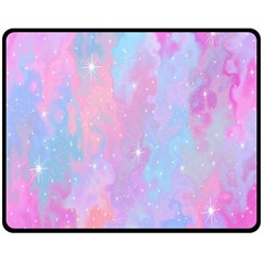 Space Psychedelic Colorful Color Double Sided Fleece Blanket (medium)