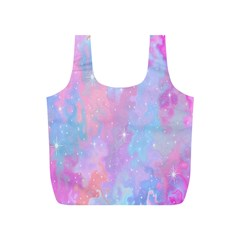 Space Psychedelic Colorful Color Full Print Recycle Bags (s)