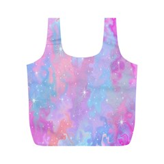Space Psychedelic Colorful Color Full Print Recycle Bags (m)