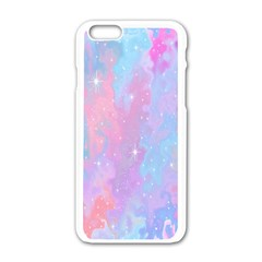Space Psychedelic Colorful Color Apple Iphone 6/6s White Enamel Case