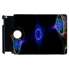Lightning Kaleidoscope Art Pattern Apple Ipad 2 Flip 360 Case