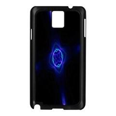 Lightning Kaleidoscope Art Pattern Samsung Galaxy Note 3 N9005 Case (black)