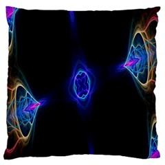 Lightning Kaleidoscope Art Pattern Large Flano Cushion Case (two Sides)