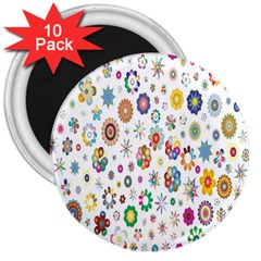 Design Aspect Ratio Abstract 3  Magnets (10 Pack)