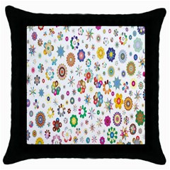 Design Aspect Ratio Abstract Throw Pillow Case (black)