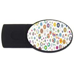 Design Aspect Ratio Abstract Usb Flash Drive Oval (4 Gb)