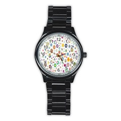 Design Aspect Ratio Abstract Stainless Steel Round Watch