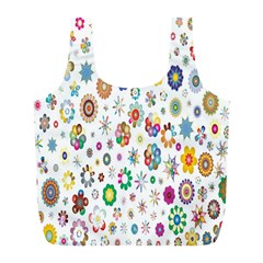 Design Aspect Ratio Abstract Full Print Recycle Bags (l)
