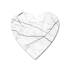 White Background Pattern Tile Heart Magnet