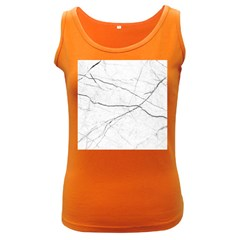 White Background Pattern Tile Women s Dark Tank Top