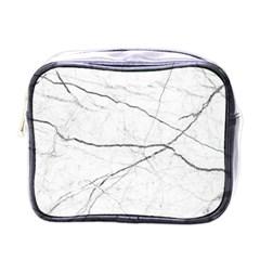 White Background Pattern Tile Mini Toiletries Bags