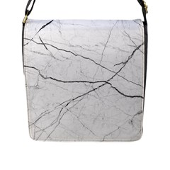 White Background Pattern Tile Flap Messenger Bag (l)