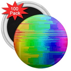 Colors Rainbow Chakras Style 3  Magnets (100 Pack)