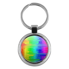 Colors Rainbow Chakras Style Key Chains (round)