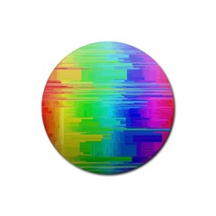 Colors Rainbow Chakras Style Rubber Coaster (round)