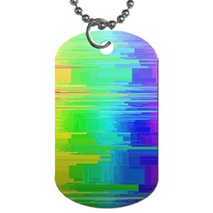 Colors Rainbow Chakras Style Dog Tag (one Side)