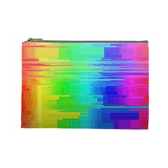 Colors Rainbow Chakras Style Cosmetic Bag (large)