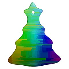Colors Rainbow Chakras Style Christmas Tree Ornament (two Sides)
