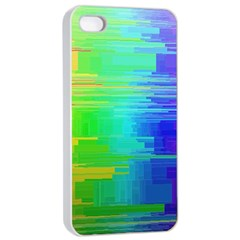 Colors Rainbow Chakras Style Apple Iphone 4/4s Seamless Case (white)