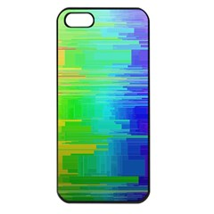 Colors Rainbow Chakras Style Apple Iphone 5 Seamless Case (black)