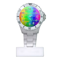 Colors Rainbow Chakras Style Plastic Nurses Watch