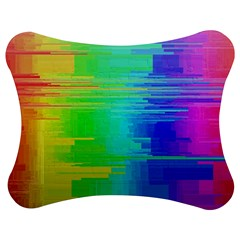 Colors Rainbow Chakras Style Jigsaw Puzzle Photo Stand (bow)