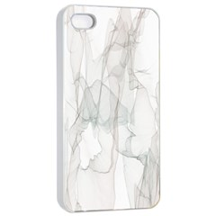 Background Modern Smoke Design Apple Iphone 4/4s Seamless Case (white)
