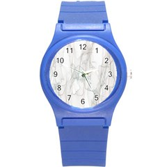 Background Modern Smoke Design Round Plastic Sport Watch (s)