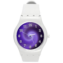 Spiral Lighting Color Nuances Round Plastic Sport Watch (m)