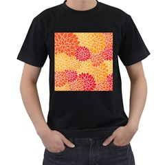 Abstract Art Background Colorful Men s T Shirt (black) (two Sided)