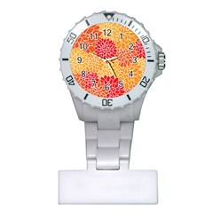 Abstract Art Background Colorful Plastic Nurses Watch