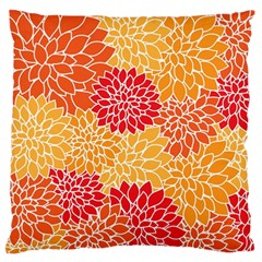Abstract Art Background Colorful Large Flano Cushion Case (two Sides)