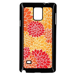 Abstract Art Background Colorful Samsung Galaxy Note 4 Case (black)