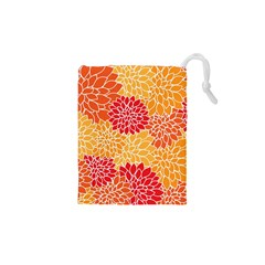 Abstract Art Background Colorful Drawstring Pouches (xs)