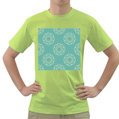 Floral Vintage Royal Frame Pattern Green T Shirt