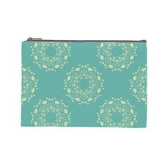 Floral Vintage Royal Frame Pattern Cosmetic Bag (large)