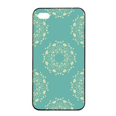 Floral Vintage Royal Frame Pattern Apple Iphone 4/4s Seamless Case (black)