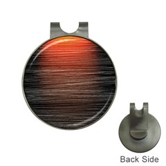 Background Red Orange Modern Hat Clips With Golf Markers
